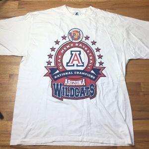 Vintage 1997 Arizona Wildcats World Champs Tee